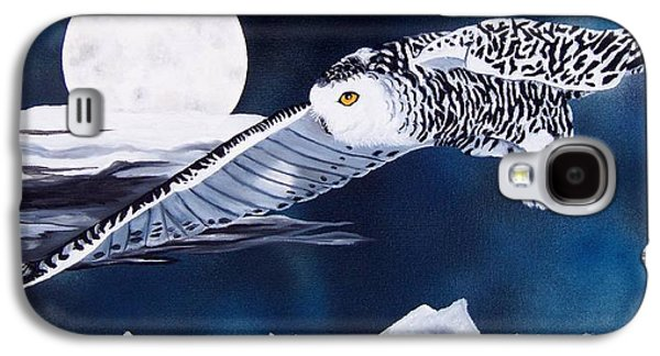 Snowy Night Night Galaxy S4 Cases - Snowy Flight Galaxy S4 Case by Debbie LaFrance