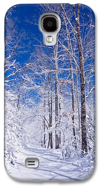 Winter Prints Photographs Galaxy S4 Cases - Snowy Path Galaxy S4 Case by Rob Travis