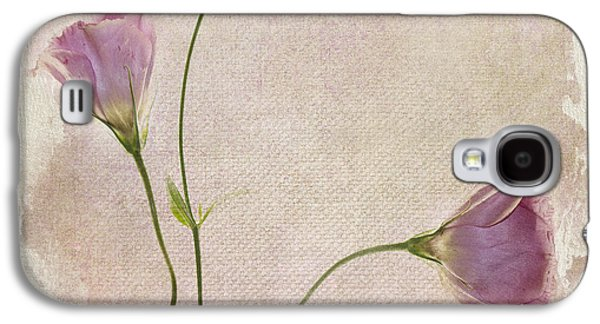 Pink Flower Galaxy S4 Cases - Softly Galaxy S4 Case by Rebecca Cozart