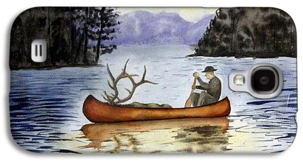 Canoe Drawings Galaxy S4 Cases - Solitude Galaxy S4 Case by Jimmy Smith