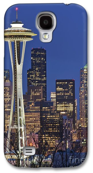 Architectural Galaxy S4 Cases - Space Needle and Downtown Seattle Skyline Galaxy S4 Case by Rob Tilley