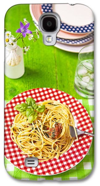 Spaghetti Galaxy S4 Cases - Spaghetti al pesto Galaxy S4 Case by Joana Kruse