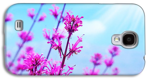 Colorful Abstract Galaxy S4 Cases - Spring flower background Galaxy S4 Case by Anna Omelchenko