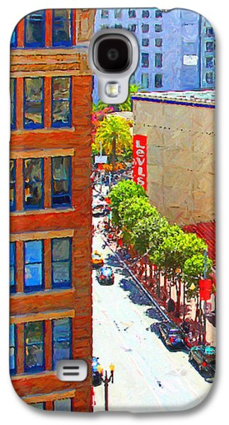 Long Street Digital Art Galaxy S4 Cases - Stockton Street San Francisco . View Towards Union Square Galaxy S4 Case by Wingsdomain Art and Photography