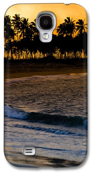 Landscapes Photographs Galaxy S4 Cases - Sunset at the Beach Galaxy S4 Case by Sebastian Musial