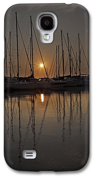 Boats In Harbor Galaxy S4 Cases - Sunset Galaxy S4 Case by Joana Kruse