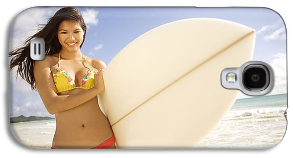 Youthful Galaxy S4 Cases - Surfer girl Galaxy S4 Case by Sri Maiava Rusden - Printscapes