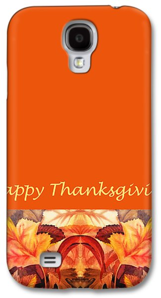 Maple Season Paintings Galaxy S4 Cases - Thanksgiving Card Galaxy S4 Case by Irina Sztukowski