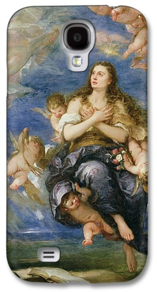 Lute Paintings Galaxy S4 Cases - The Assumption of Mary Magdalene Galaxy S4 Case by Jose Antolinez