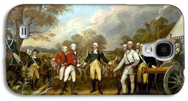 Flag Paintings Galaxy S4 Cases - The Surrender of General Burgoyne Galaxy S4 Case by War Is Hell Store