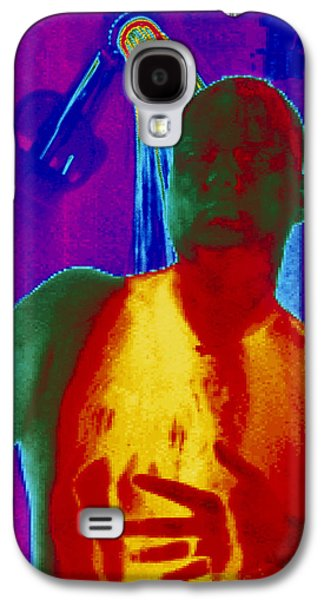 Shower Head Galaxy S4 Cases - Thermogram Of A Man Taking A Shower Galaxy S4 Case by Dr. Arthur Tucker