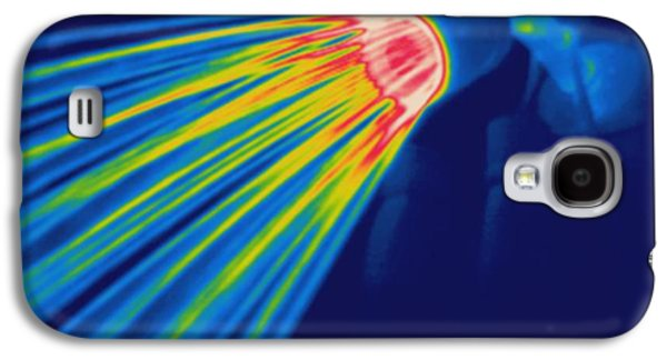 Shower Head Galaxy S4 Cases - Thermogram Of A Shower Head Galaxy S4 Case by Ted Kinsman