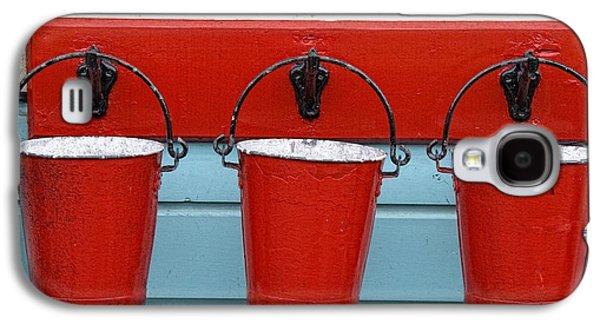 Design Pics - Galaxy S4 Cases - Three Red Buckets Galaxy S4 Case by John Short