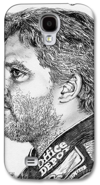 Owner Drawings Galaxy S4 Cases - Tony Stewart in 2011 Galaxy S4 Case by J McCombie