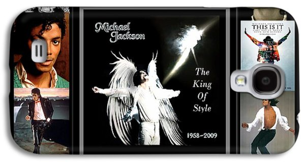 Mj Digital Art Galaxy S4 Cases - TRIBUTE to Michael Jackson The King of Style Galaxy S4 Case by Davandra Cribbie
