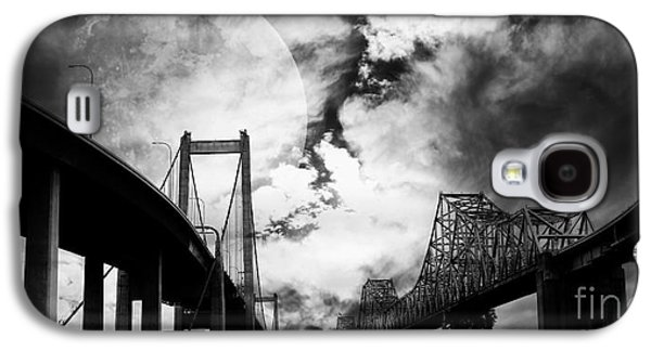 Wing Tong Galaxy S4 Cases - Two Bridges One Moon Galaxy S4 Case by Wingsdomain Art and Photography