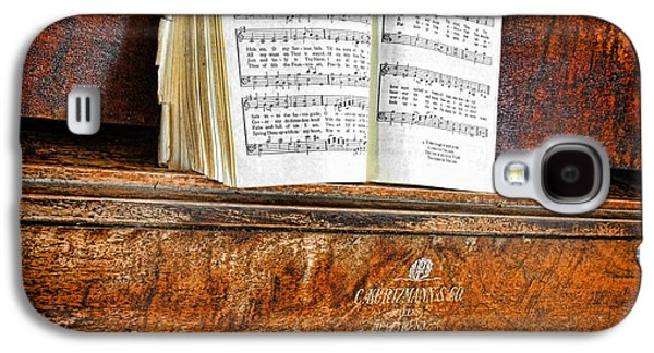 Old Sheet Music Galaxy S4 Cases - Vintage Piano Galaxy S4 Case by Jill Battaglia