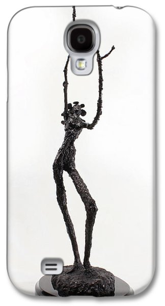 Surrealism Sculptures Galaxy S4 Cases - Votary of the Rain a sculpture by Adam Long Galaxy S4 Case by Adam Long