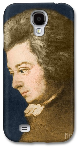 Personalities Photographs Galaxy S4 Cases - Wolfgang Amadeus Mozart, Austrian Galaxy S4 Case by Omikron