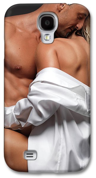 Women Together Galaxy S4 Cases - Woman Embracing a Muscular Man Galaxy S4 Case by Oleksiy Maksymenko