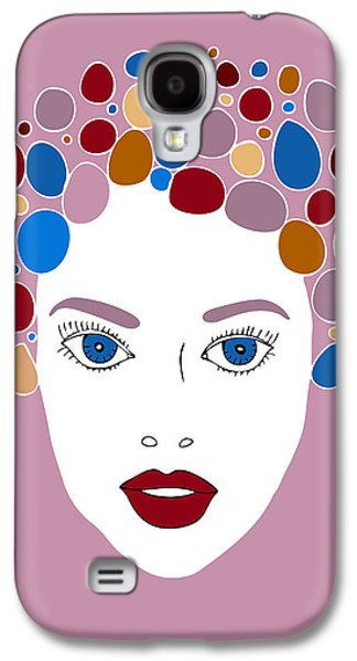 Purple Drawings Galaxy S4 Cases - Woman in Fashion Galaxy S4 Case by Frank Tschakert