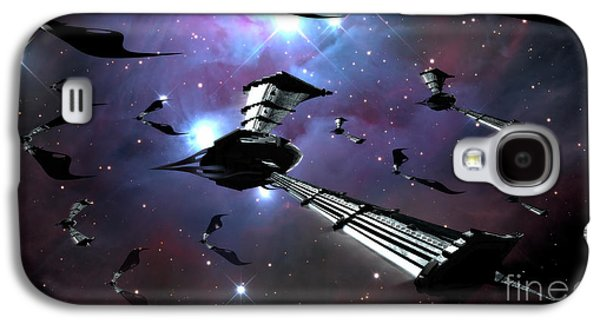 Intergalactic Space Galaxy S4 Cases - Xeelee Nightfighters, Inspired Galaxy S4 Case by Rhys Taylor