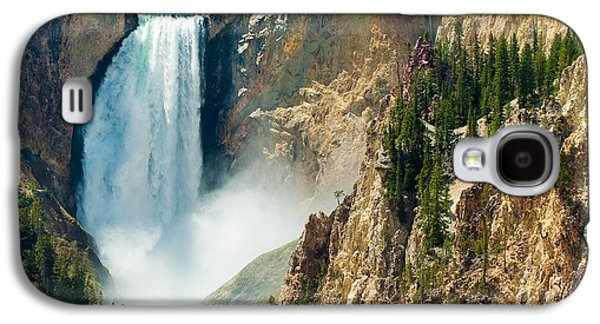 Mountain Photographs Galaxy S4 Cases - Yellowstone Waterfalls Galaxy S4 Case by Sebastian Musial