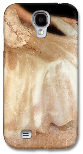 Ball Gown Photographs Galaxy S4 Cases - Young Lady Sitting in Satin Gown Galaxy S4 Case by Jill Battaglia