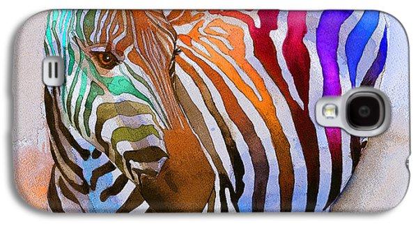 Colorful Galaxy S4 Cases - Zebra Dreams Galaxy S4 Case by Galen Hazelhofer