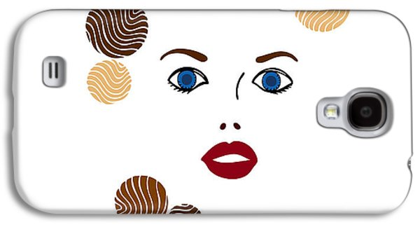 Blue Abstracts Drawings Galaxy S4 Cases - Illustration of a woman in fashion Galaxy S4 Case by Frank Tschakert