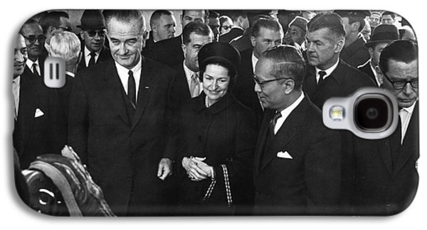 First Lady Galaxy S4 Cases - Lyndon Baines Johnson Galaxy S4 Case by Granger