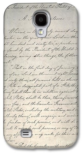 Abolition Galaxy S4 Cases - Emancipation Proclamation Galaxy S4 Case by Granger