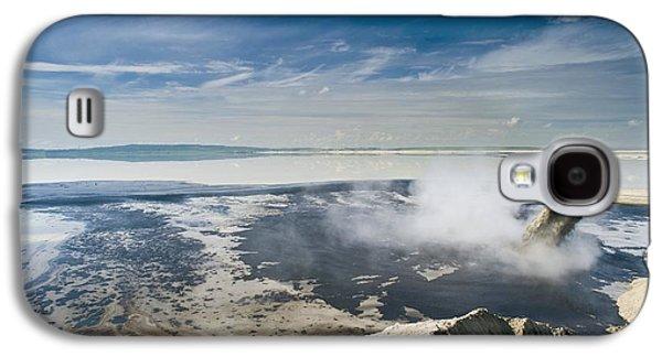 Oil Slick Galaxy S4 Cases - Oil Industry Pollution Galaxy S4 Case by David Nunuk
