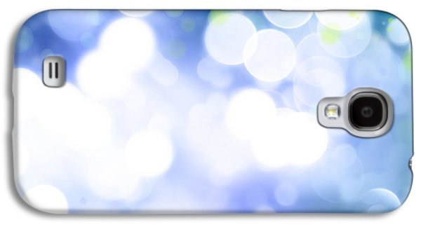 Blue Abstract Galaxy S4 Cases - Abstract background Galaxy S4 Case by Les Cunliffe