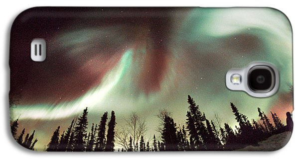 Observer Photographs Galaxy S4 Cases - Aurora Borealis Galaxy S4 Case by Chris Madeley