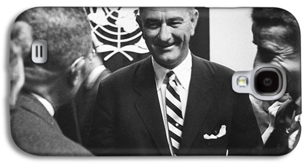 Press Conference Photographs Galaxy S4 Cases - Lyndon Baines Johnson Galaxy S4 Case by Granger