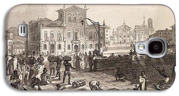 Slavery Galaxy S4 Cases - 1832 Brazil Slaves, Darwin On The Beagle Galaxy S4 Case by Paul D Stewart