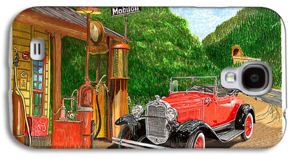 Replacing Galaxy S4 Cases - 1931 Ford Model A Roadster Galaxy S4 Case by Jack Pumphrey