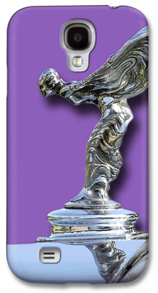 Car Mascot Digital Galaxy S4 Cases - 1934 Rolls Royce Spirit Mascot Galaxy S4 Case by Jack Pumphrey