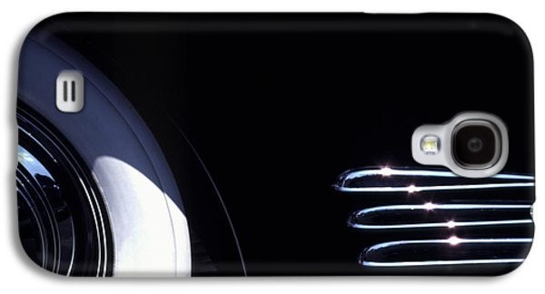 Classic Cars Photographs Galaxy S4 Cases - 1938 Cadillac Limo with Chrome Strips Galaxy S4 Case by Anna Lisa Yoder