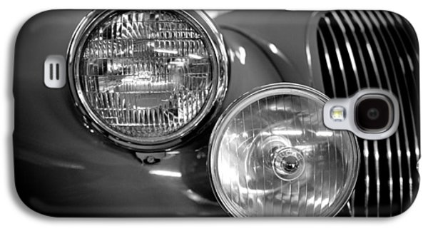 Classic Cars Photographs Galaxy S4 Cases - 1952 Jaguar Headlights Galaxy S4 Case by Sebastian Musial