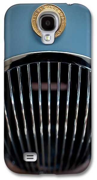 Man Cave Photographs Galaxy S4 Cases - 1952 Jaguar Hood Ornament and Grille Galaxy S4 Case by Sebastian Musial