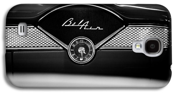 Classic Galaxy S4 Cases - 1955 Chevy Bel Air Glow Compartment in Black and White Galaxy S4 Case by Sebastian Musial