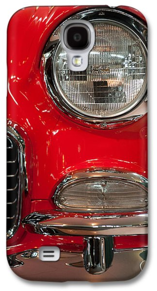 Classic Cars Photographs Galaxy S4 Cases - 1955 Chevy Bel Air Headlight Galaxy S4 Case by Sebastian Musial