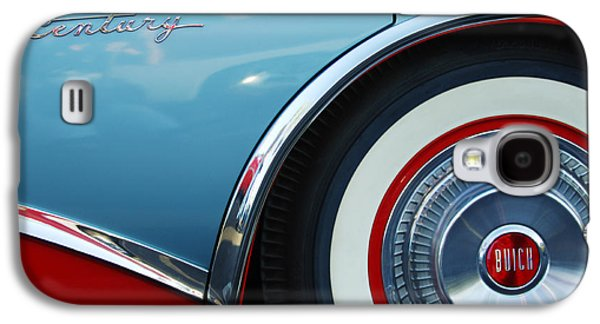 Car Abstract Photographs Galaxy S4 Cases - 1956 Buick Century Wheel Galaxy S4 Case by Jill Reger