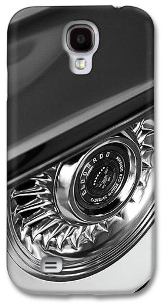 Car Abstract Photographs Galaxy S4 Cases - 1956 Cadillac Eldorado Wheel Black and White Galaxy S4 Case by Jill Reger