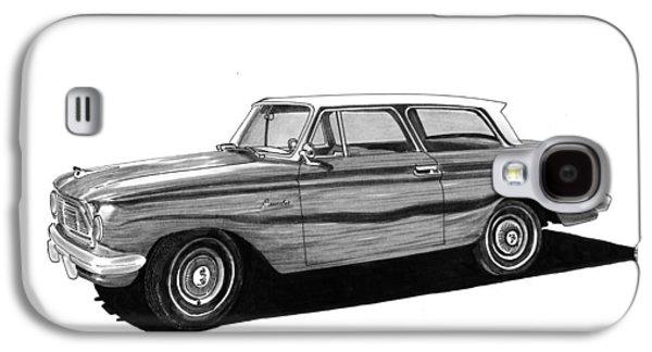 80s Drawings Galaxy S4 Cases - 1962 Rambler American Galaxy S4 Case by Jack Pumphrey