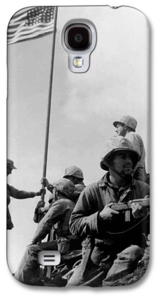 Americans Digital Art Galaxy S4 Cases - 1st Flag Raising On Iwo Jima  Galaxy S4 Case by War Is Hell Store
