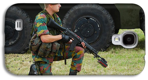 Component Photographs Galaxy S4 Cases - A Soldier Of An Infantry Unit Galaxy S4 Case by Luc De Jaeger