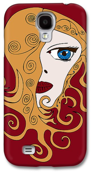 Sisters Drawings Galaxy S4 Cases - A Woman Galaxy S4 Case by Frank Tschakert
